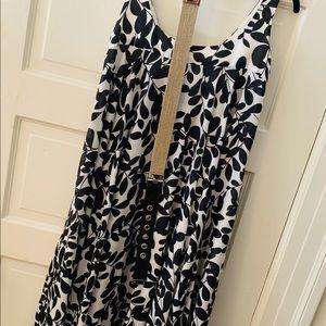 Knee length silk dress